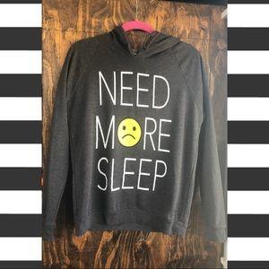 """Need More Sleep"" graphic hoodie"